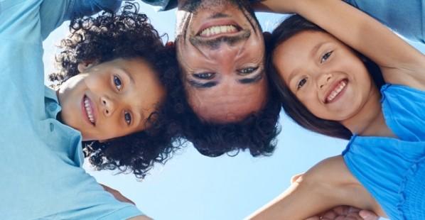 Parent with children