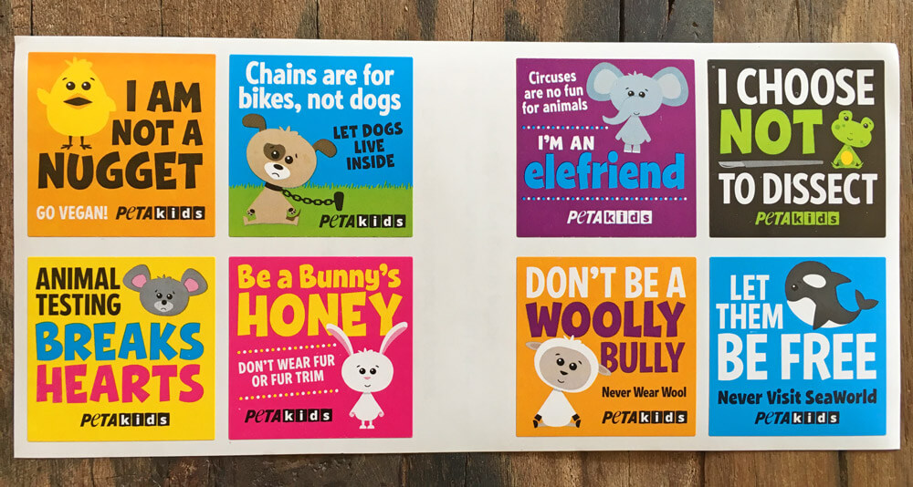 Free PETA Kids Stickers