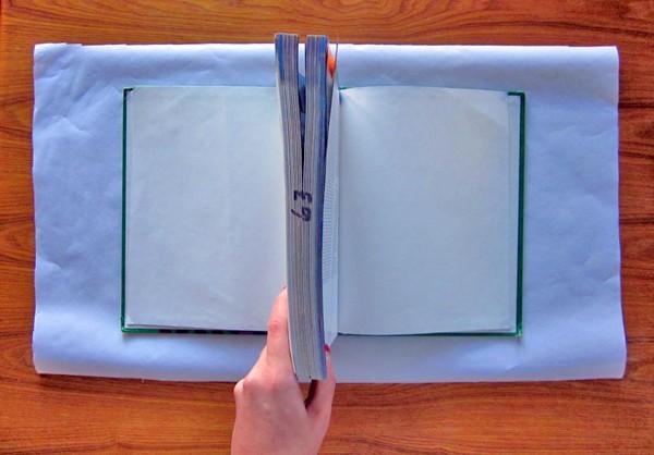 diy book cover step 1
