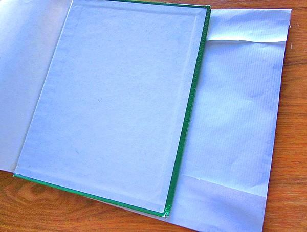 diy book cover step 2