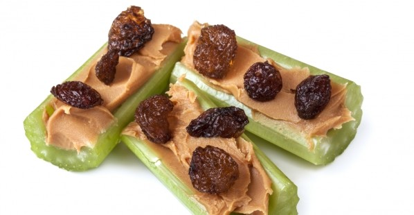 Ants on a Log: Celery Peanut Butter and Raisins
