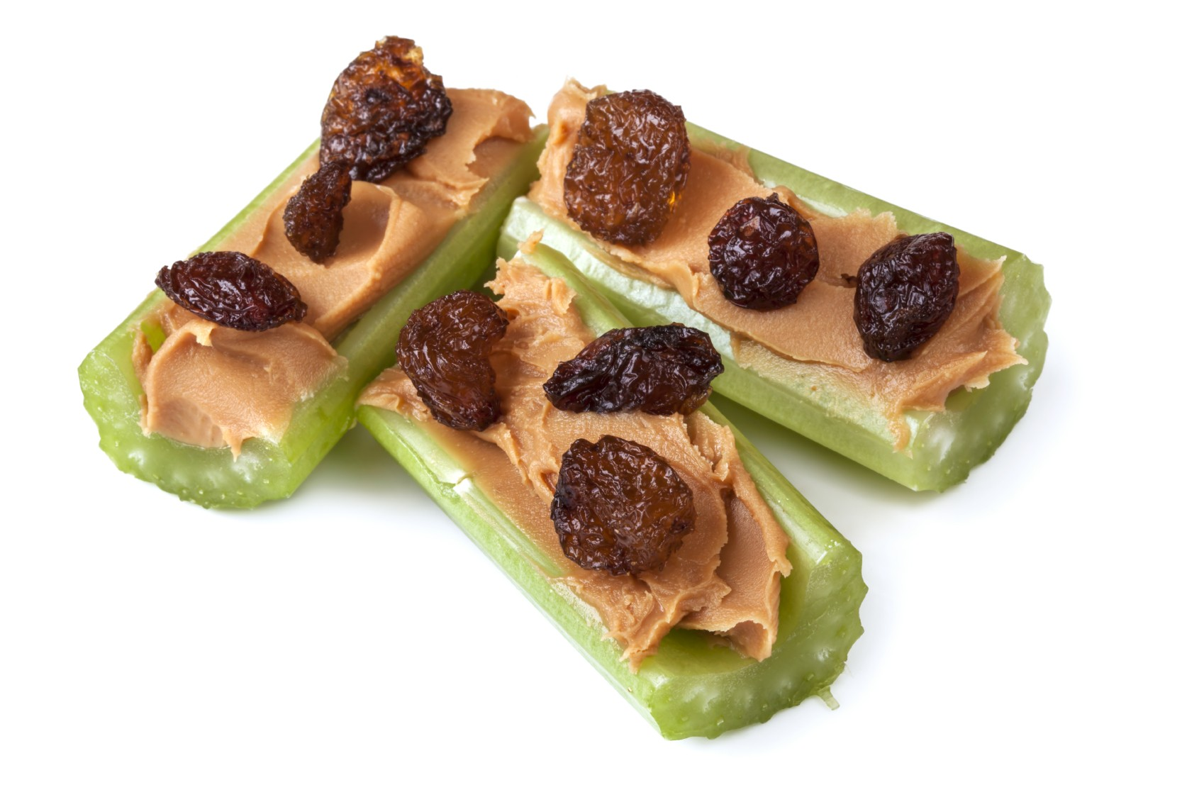 Ants on a Log: Celery Peanut Butter and Raisins
