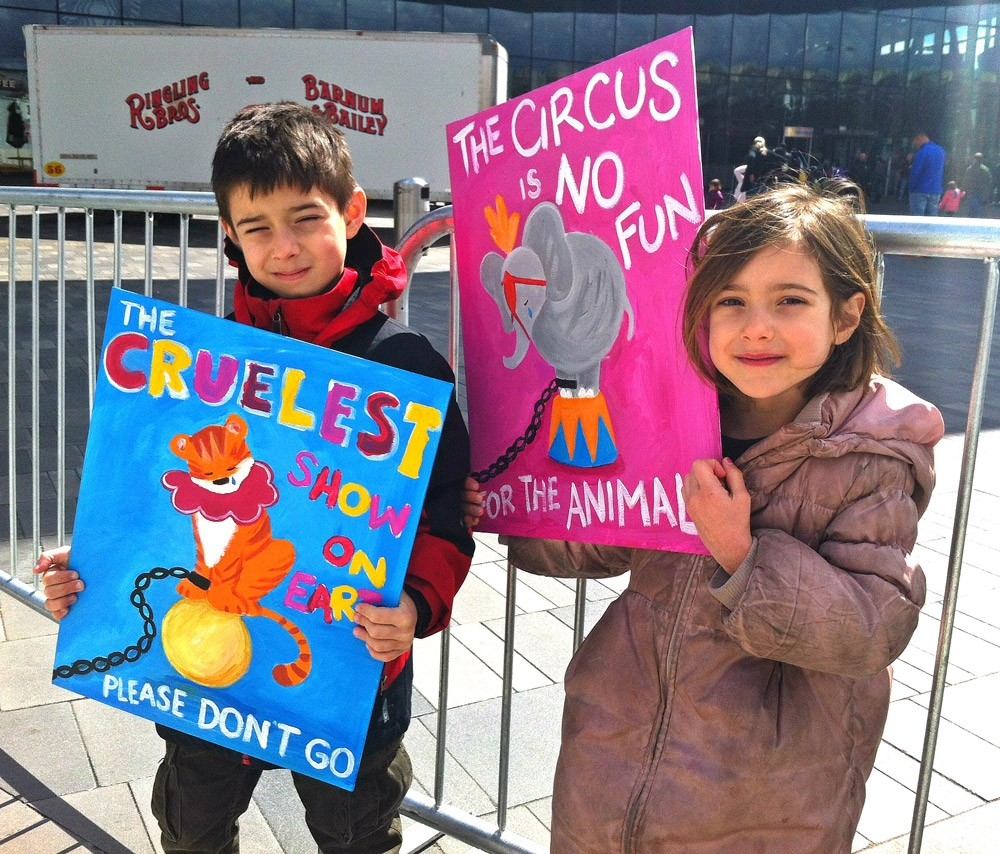 Kids At Ringling Protest