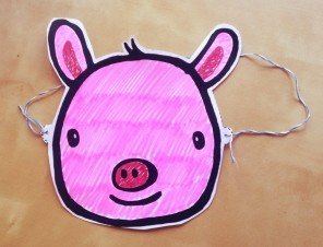 Pig Mask Colored Pink