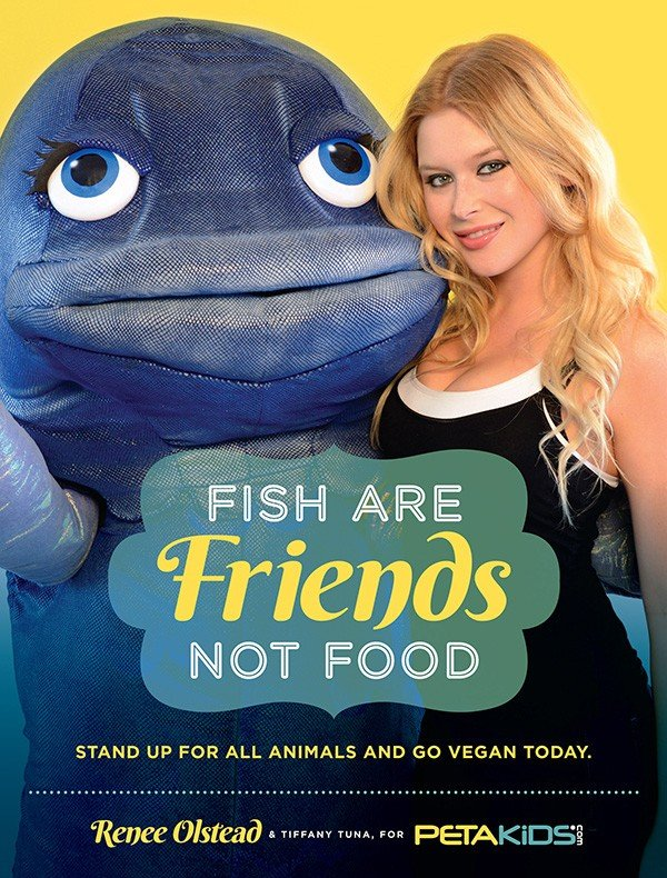 Renee Olstead Fish Are Friends Not Food PSA