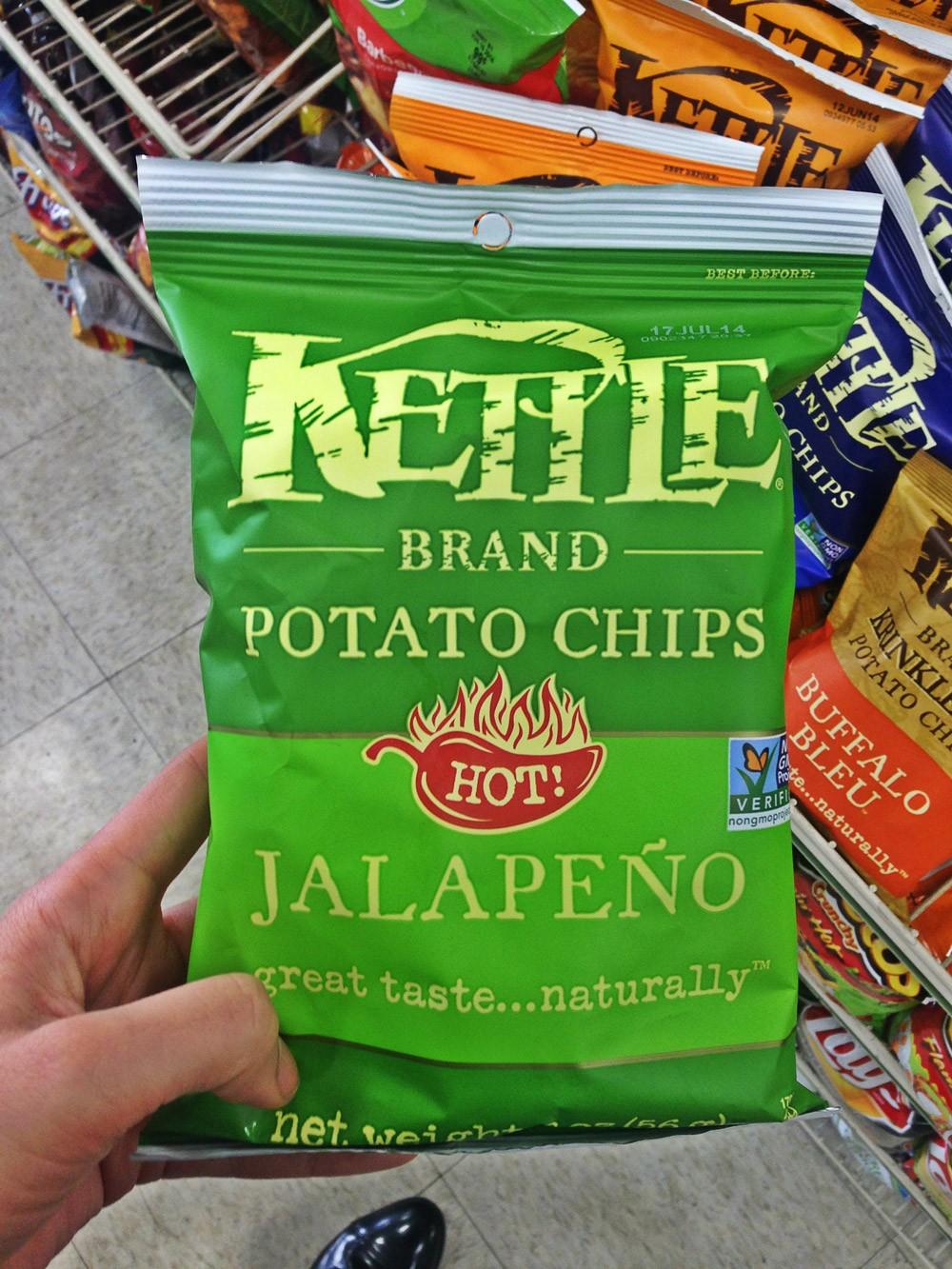 Kettle Brand Potato Chips Jalapeno