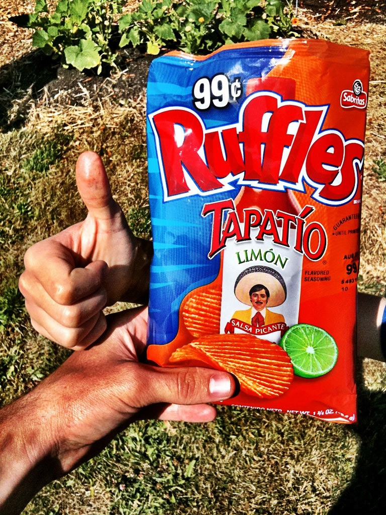 Ruffles Tapatio Limon Chips