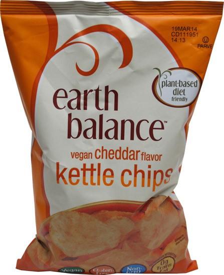 Earth Balance Kettle Chips Vegan Cheddar Flavor