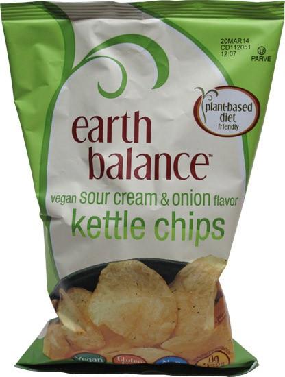 Earth Balance Kettle Chips Vegan Sour Cream & Onion Flavor