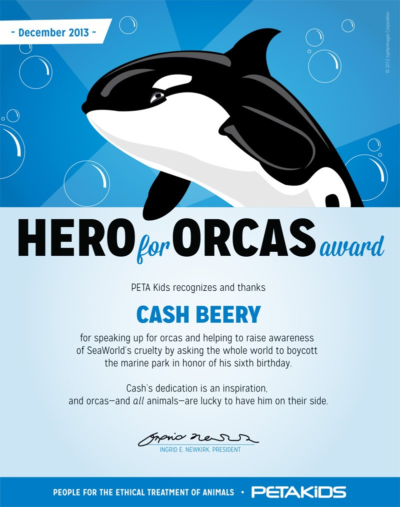 Hero for Orcas Award