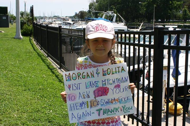 Maeve Wolski With Protest Sign