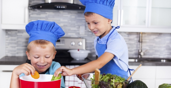 Kids Cooking Vegetables