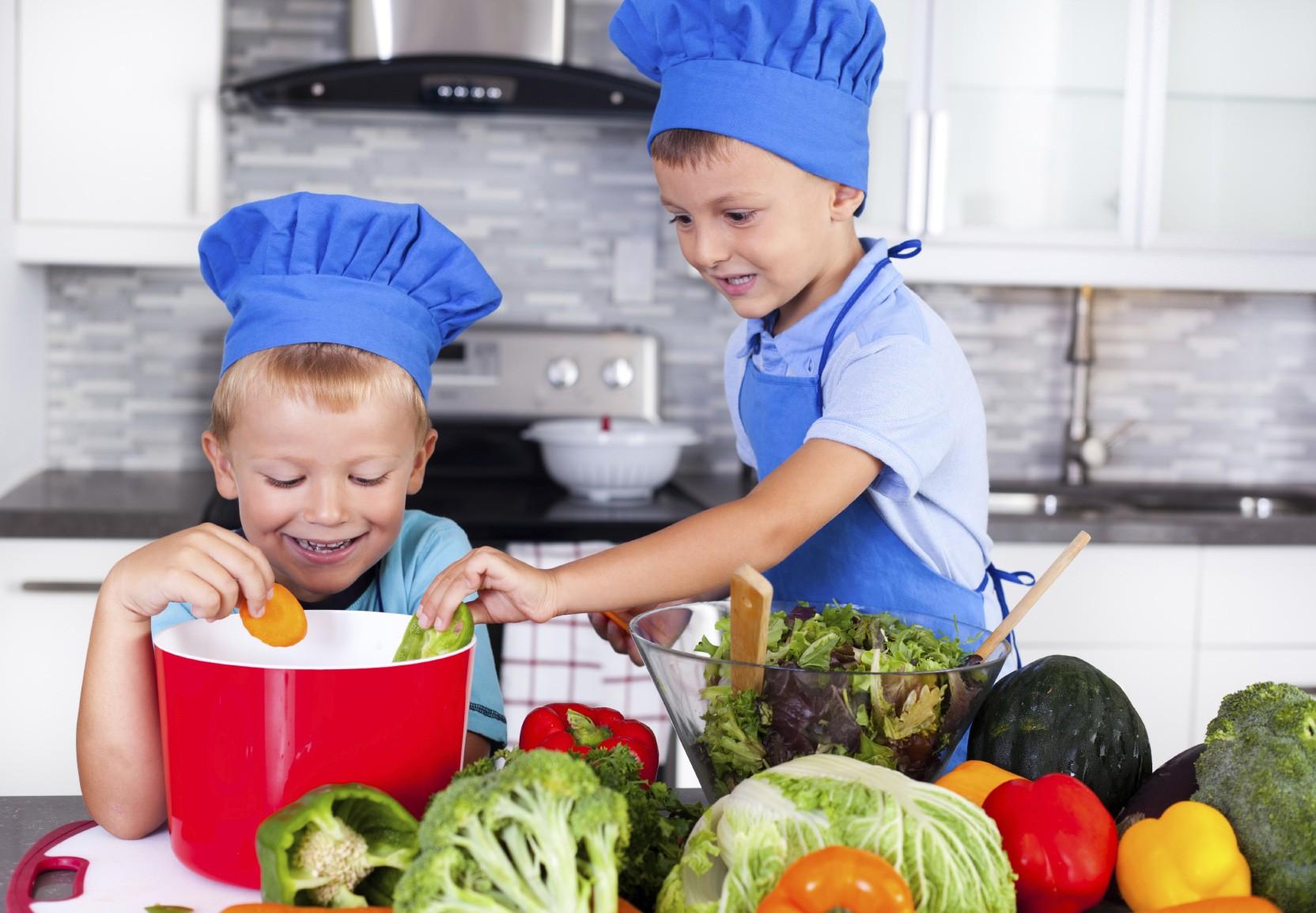 Kids Cooking Vegetables
