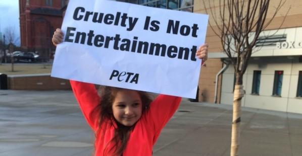Kindergartner Circus Protest