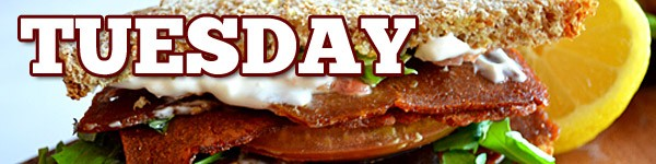 Vegan Bacon Lettuce Tomato BLT Sandwich