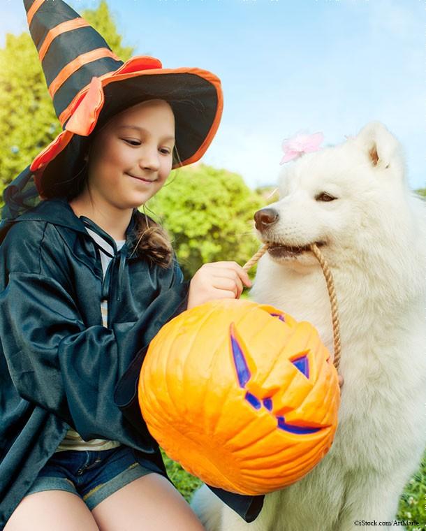 Girl With Dog Halloween