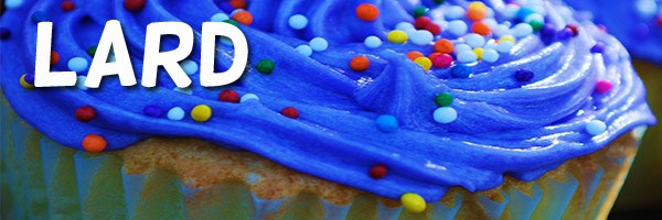 Cupcake With Blue Icing Lard
