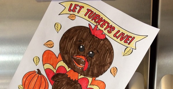 Turkey Coloring-Sheet-on-Fridge