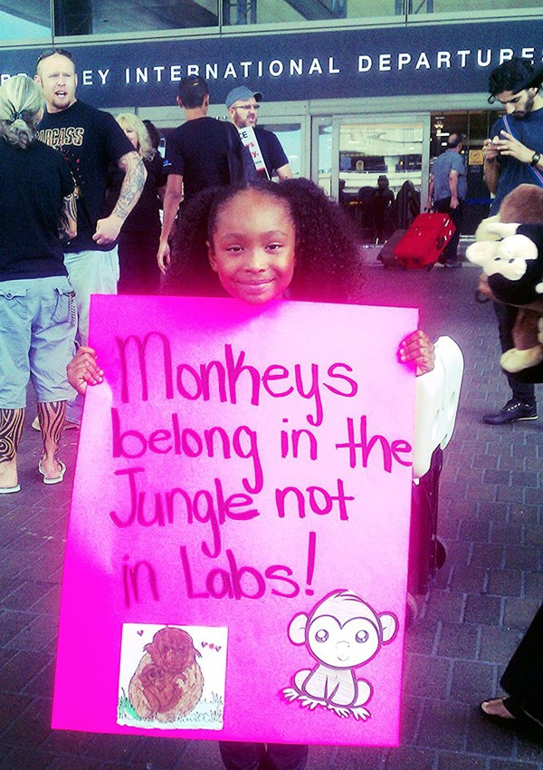 Genesis protests animal testing.