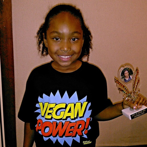 Genesis wins title of MVP in flag football, proving how strong vegans are.