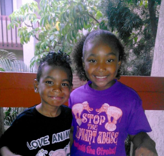Genesis and her brother stand up for animals.