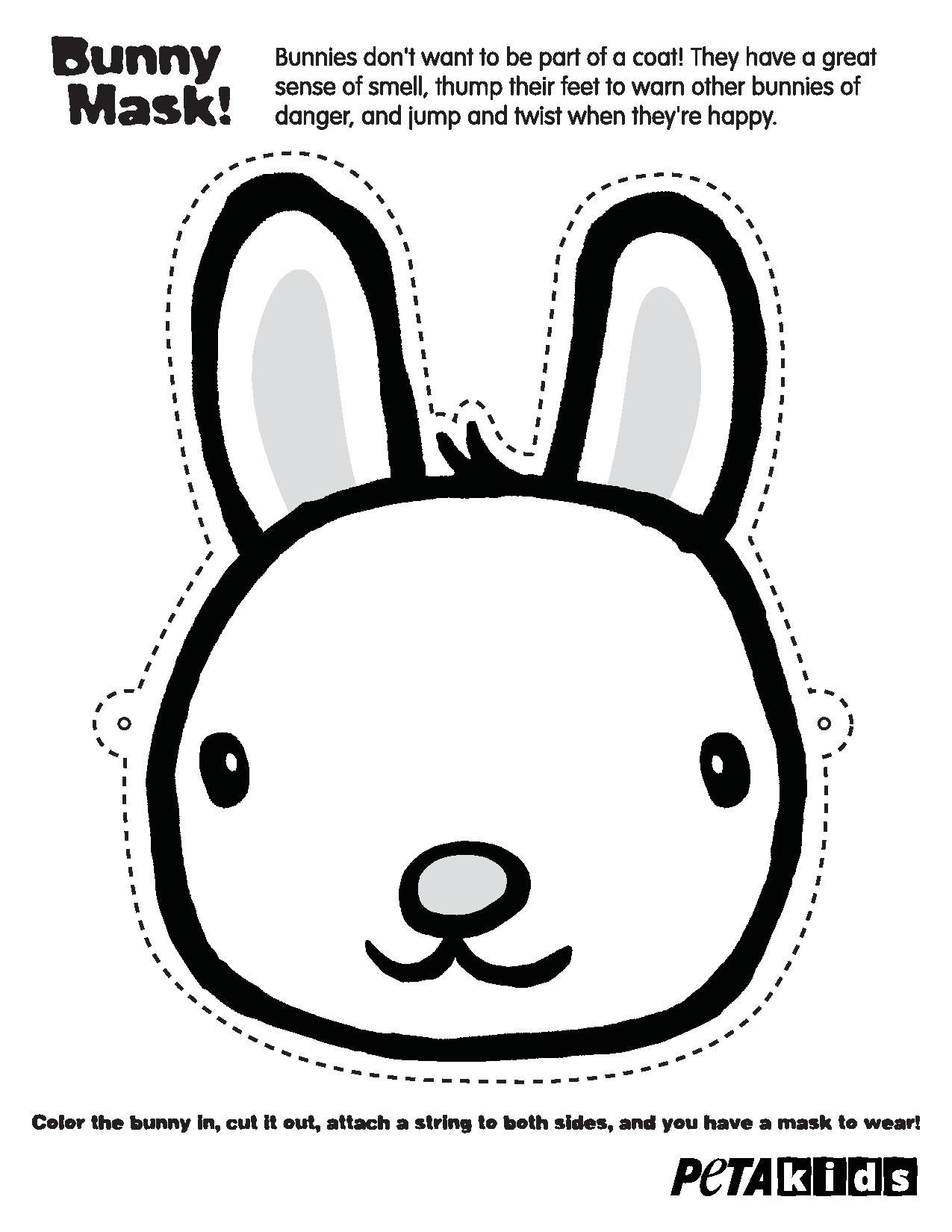 PETA Kids Bunny Mask