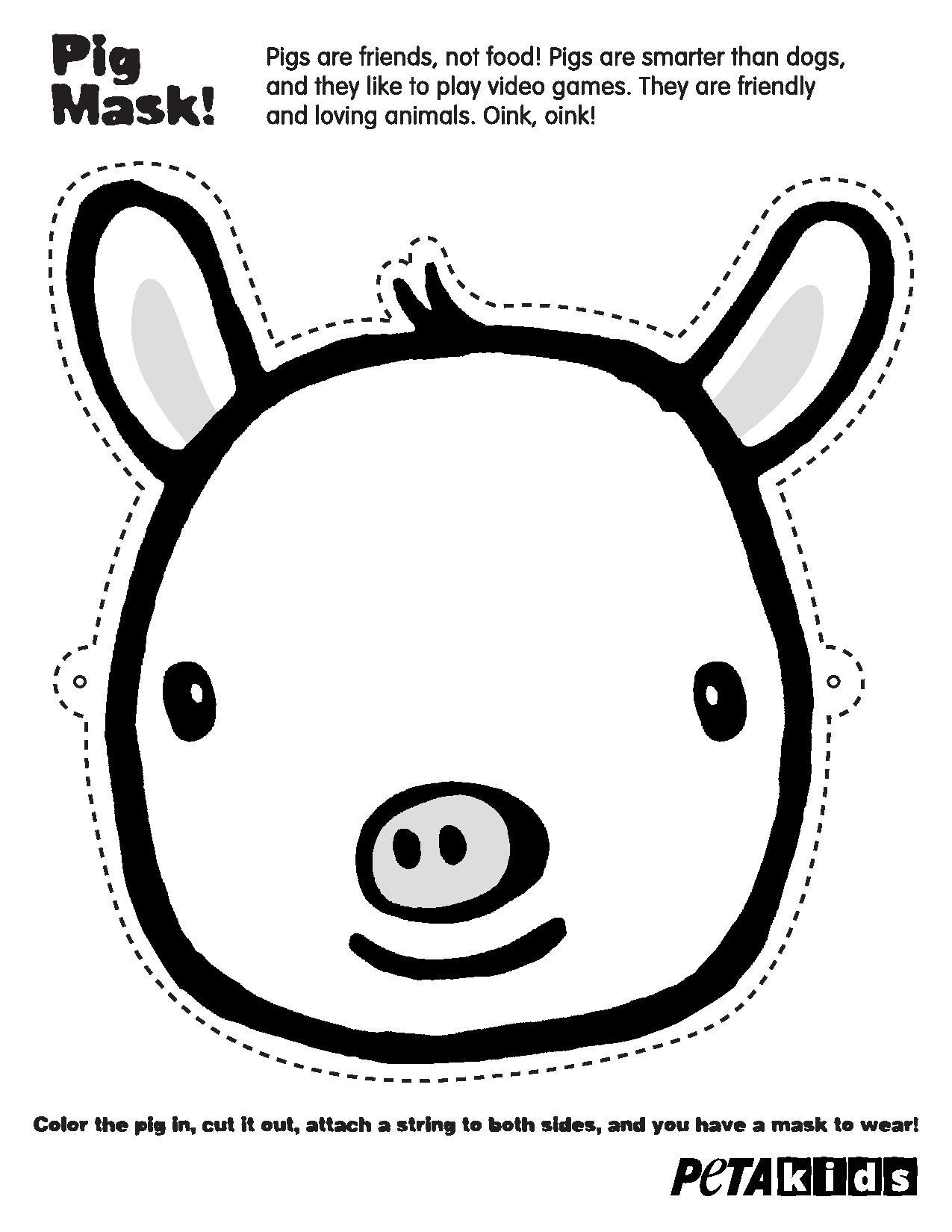 PETA Kids Pig Mask