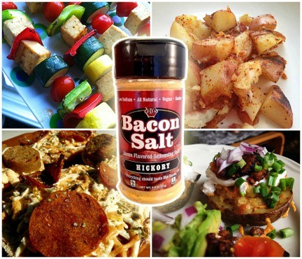 Bacon-Flavored Snacks Collage