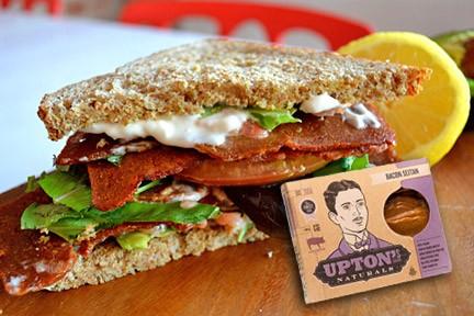 Upton's Vegan Bacon BLT