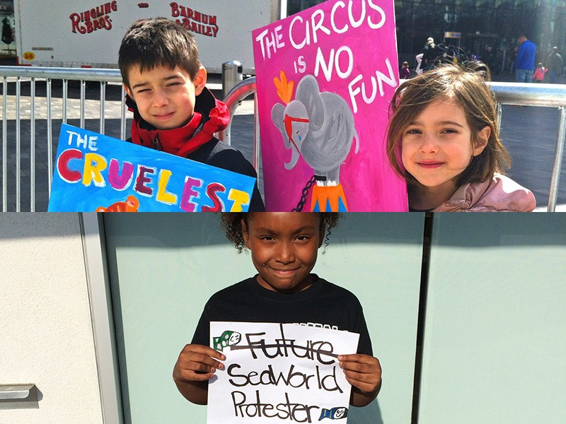 Ringling-and-SeaWorld-Kid-Protests