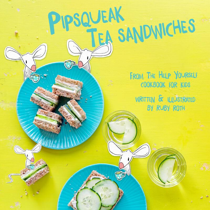 Ruby Roth Cucumber Sandwiches