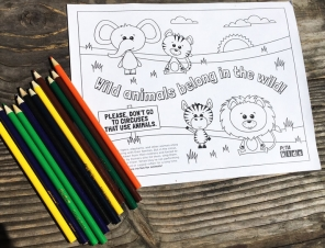 Wild Animals Belong in the Wild Coloring Sheet