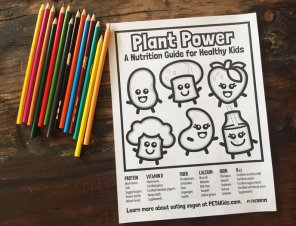 Plant Power Nutrition Coloring Sheet