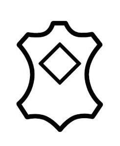 Shoe symbol coated leather