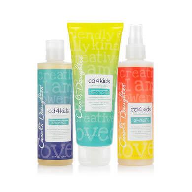 CD4Kids Shampoo, Conditioner, and Detangler