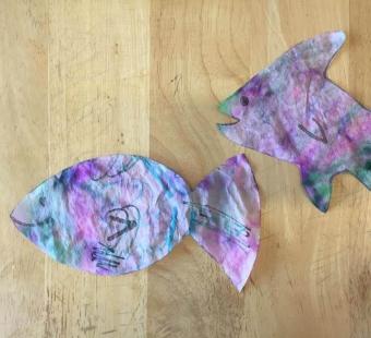'Fish Are Friends' Tie-Dye Suncatcher