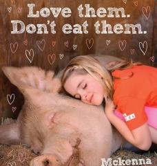 Lesson in Love: Mckenna Grace Cuddles a Pig in Sweet Ad