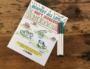 FREE Coloring Sheet: Respect All Life—Don't Dissect !
