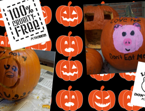 Decorate Your Pumpkin With These Cute Pro-Vegan Stencils!