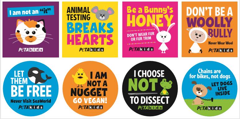 Free Peta Kids Stickers Spotlight Peta Kids
