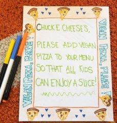 Dear Chuck E. Cheese's: Add Vegan Pizza, Please!