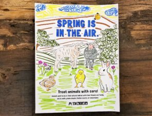 Spring Is in the Air—Treat Animals With Care!