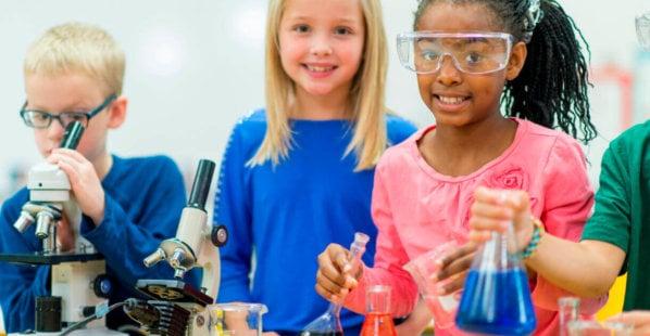 Kids Experimenting Classroom
