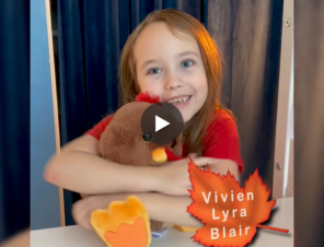 Actor Vivien Lyra Blair Wants YOU to Be Kind to Turkeys This Thanksgiving