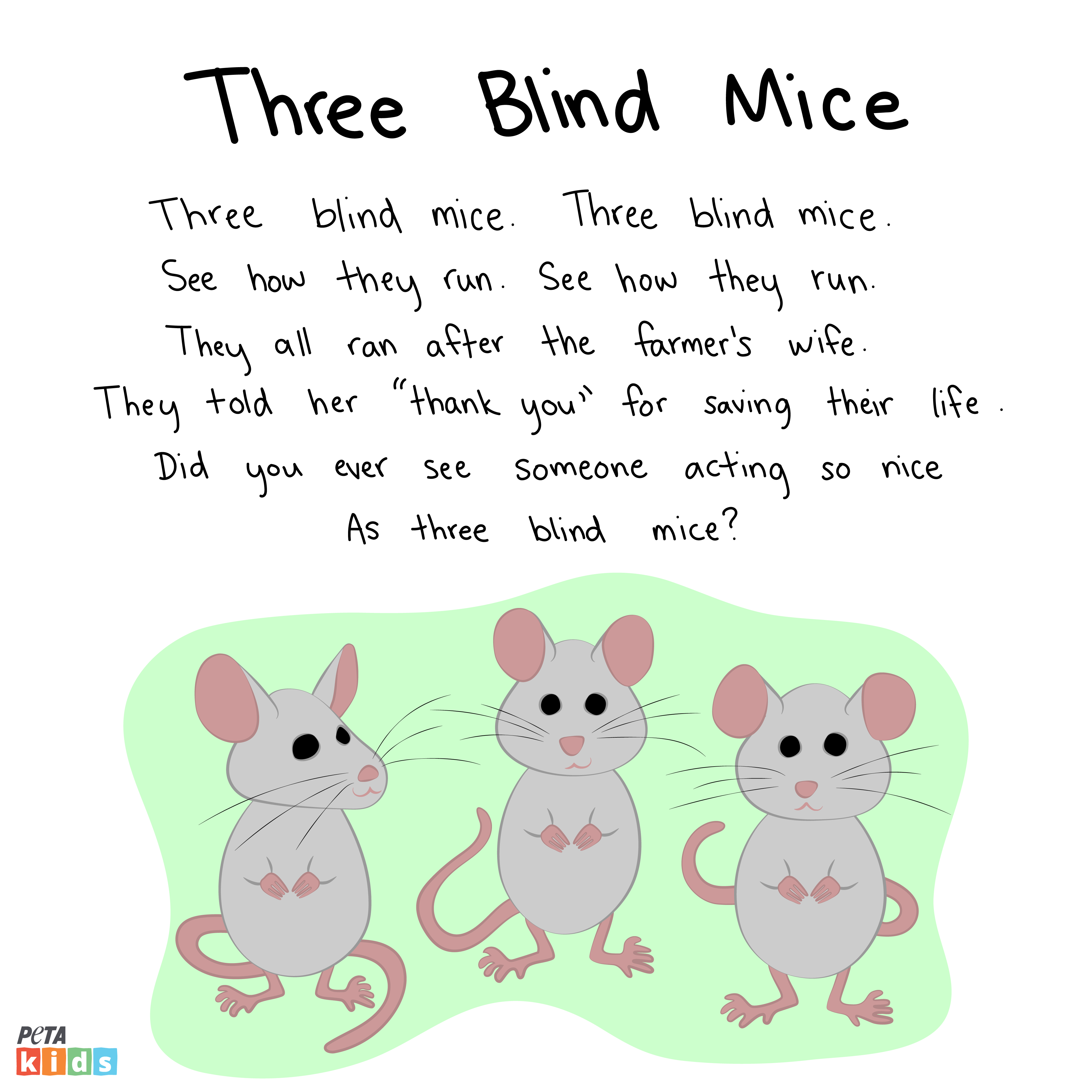 Three Blind Mice Nursery Rhyme