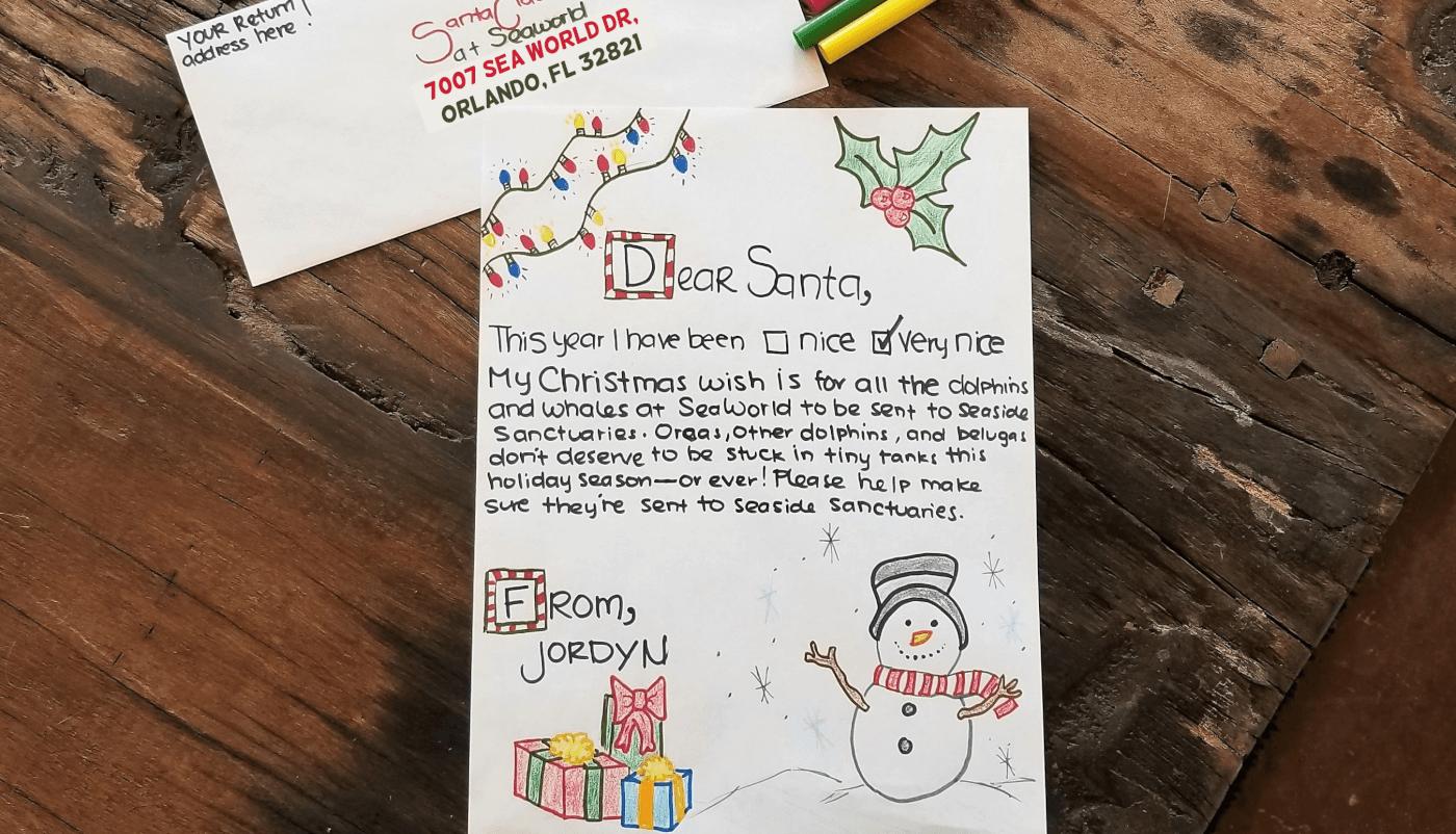 Letter to Santa at SeaWorld