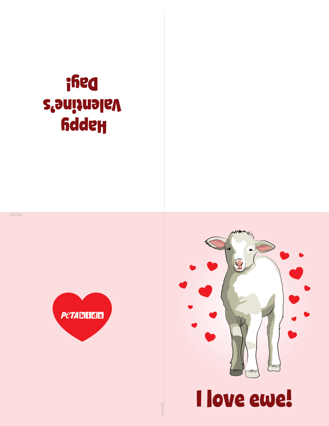Sheep Valentine's Day Cards
