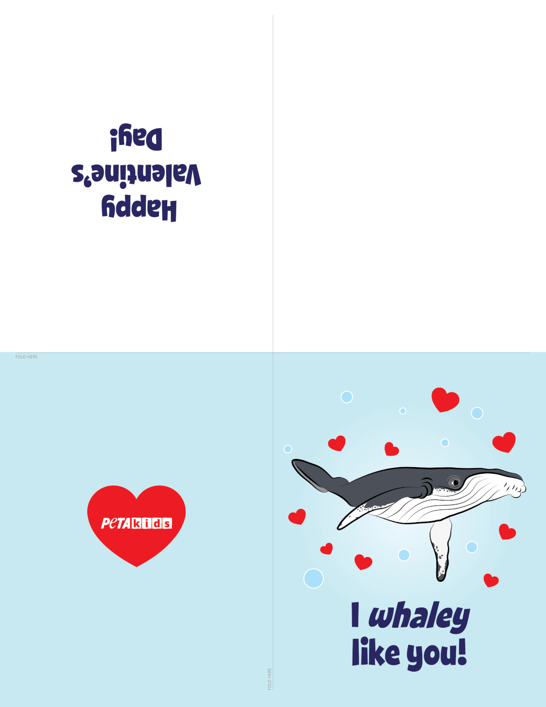 Whale Valentine's Day Cards