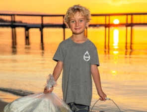 Young Boy Gets Award for Helping Marine Life