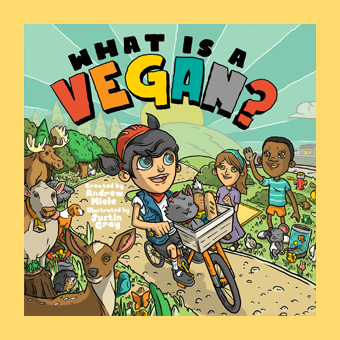 what is a vegan book cover